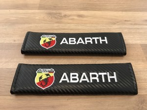 2X Car Seat Belt Pads Carbon Gift Abarth Fiat 500 TJet CLX TC 595 695