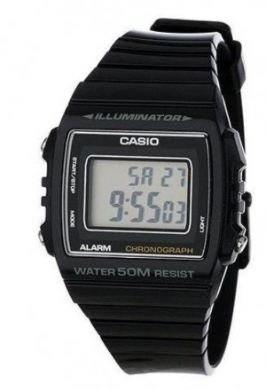 Casio W-215H-1A Black 50m Watch Unisex Digital Alarm Chronograph Resin Band