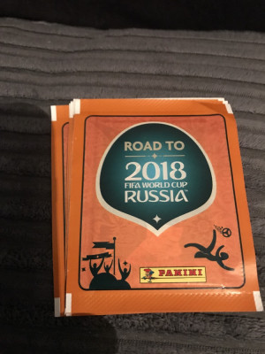Panini road to 2018 FIFA World Cup Russia stickers x 50 packs £5 collection £6 posted