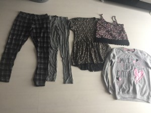 Girls leggings and top teen bundle