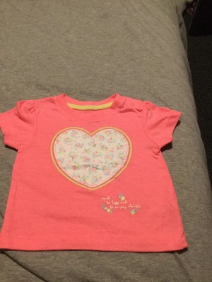 Baby Girls T-Shirt - Aged 6-9 Months