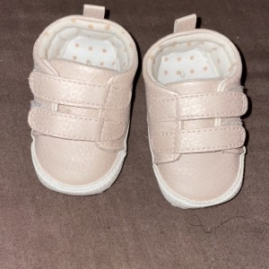 Pale pink crib trainers