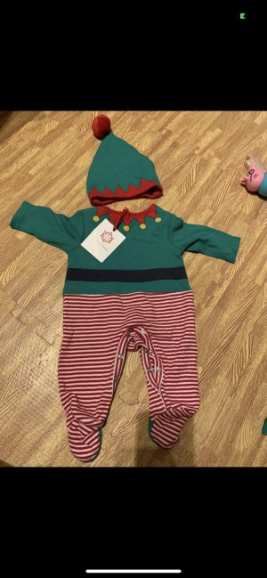 Brand new John Lewis elf outfit baby grow suit