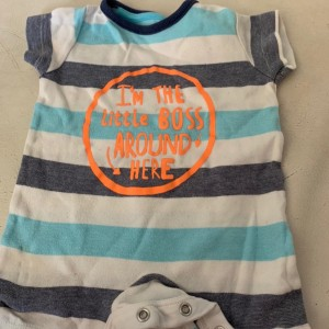 Baby boys George multicoloured sleep suit size 0-3 months