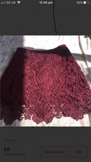 Plum skirt size 10