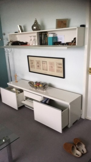Ikea storage or tv stand, good as new already assembled and can deliver