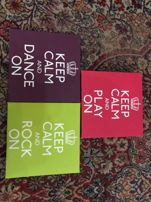 """keep calm"" canvases"