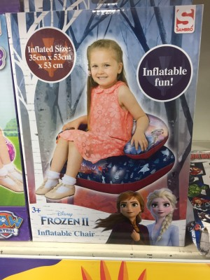 Frozen inflatable chair