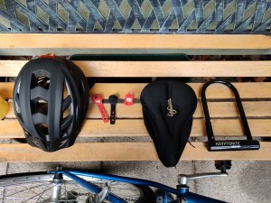 Road bike with accessories for sale