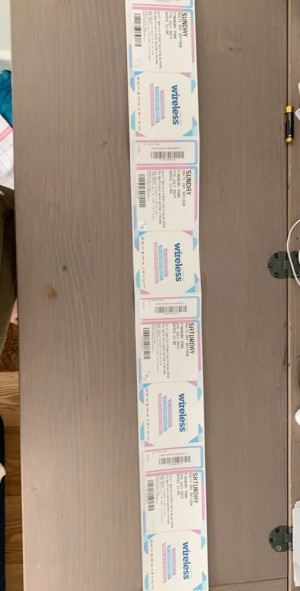 wireless festival tickets. 2x Saturday and Sunday