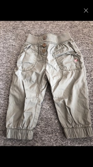 Next girls green combat trousers 9-12 months worn a few times in good condition