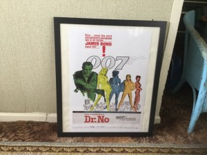 original James Bond agent 007 DR NO Sean Connery cinema poster 26in 22