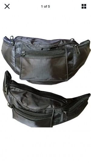 Water Resistant Large Bum Bag Travel Waist Fanny Pack Money Hiking Bum