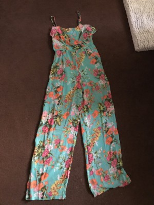 Jumpsuit 8/10 shoe string straps only worn once price includes P&P