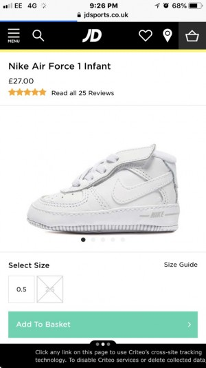 Nike Air Force 1 Crib Shoes