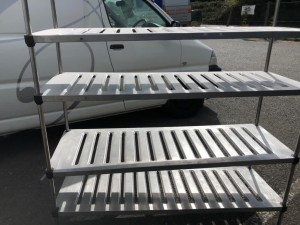 4 Tier Stainless Steel Rack (1600 x 500 x 1800mm high)