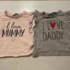 Mommy and daddy tops