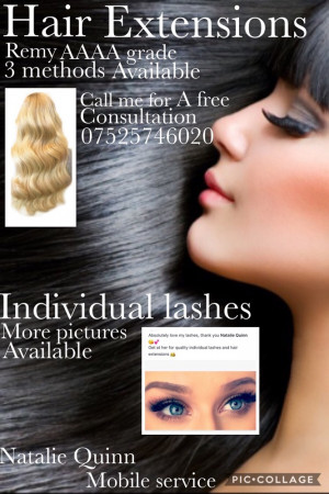Mobile hair extensions and individual lashes