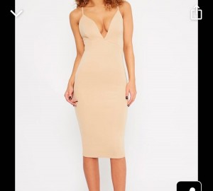 Nada plunge cross back midi dress