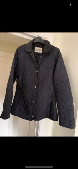 Miss Fiori padded jacket with popper fastenings, pockets