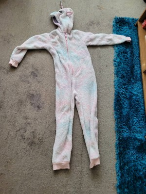 girls unicorn onesie aged 9 to 10 years  marks and Spencer