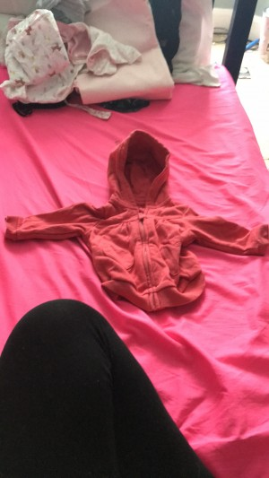 Red baby girl hoodie 0-3 months