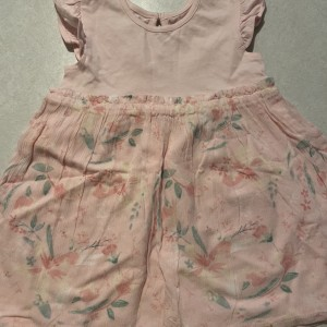 Pale pink and floral dress