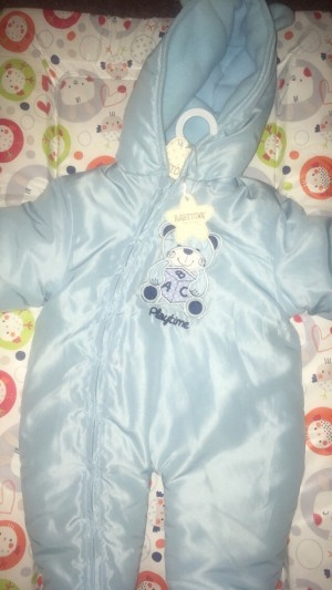 3-6 month blue outdoor suit
