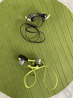 Two top wireless Bluetooth headphones. Hardly used. Bargain