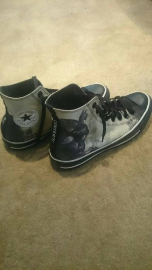 converse dc universe custom made shoes