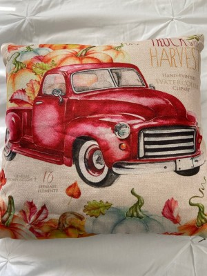 Truck with harvest cushion