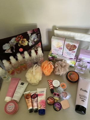 Selection of body products
