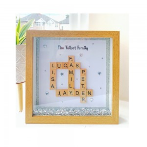 Scrabble Family Personalised Frame