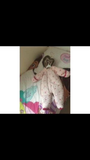 Tedbaker pink bow all in one coat age 3-6months
