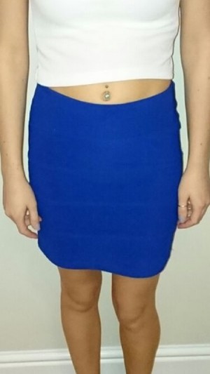 Topshop-Purple high wasted skirt