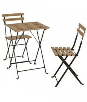 Outdoor 2 tables and 4 chairs