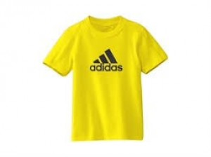 Kids yellow Adidas T shirt any size