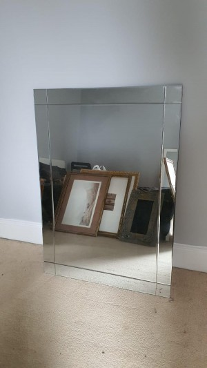 Beautiful large mirror with bevelled corners and sides