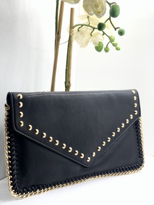 Large Studded Clutch Bag
