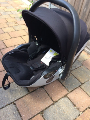 Kiddy car seat isofix base and rain /insect net package