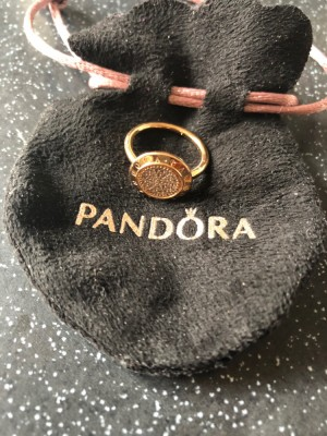 pandora ALE Rose Gold Ring size 50