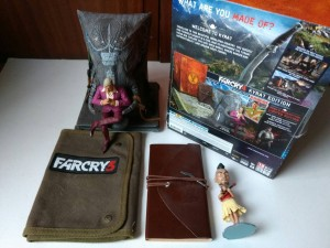Farcry 3 & 4 Collectors edition figure and game extras Ps3 / Ps4