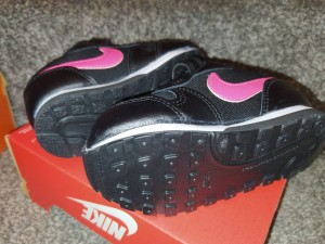 baby Nike trainers pink black