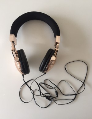 Typo Rose Gold 'Tune Out' Headphones, Brand New