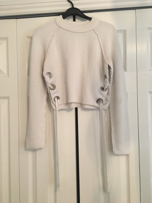 Cream topshop cropped jumper