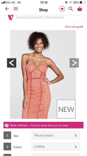 Mango Coral Lace Midi dress size m - good as new only worn once