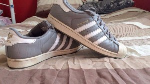 Adidas superstars size 9 in good condition been used once