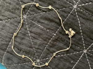 Heart link necklace