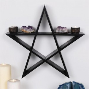 Black Pentagon Art Shelf