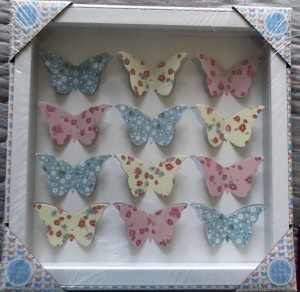 Butterfly 3D art box frame